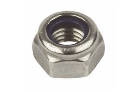 M4 Nyloc Nut Chrome Steel