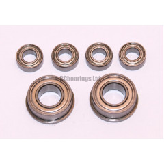 Mardave CERAMIC solid axle bearings for V12 FULL set x6 - RCbearings