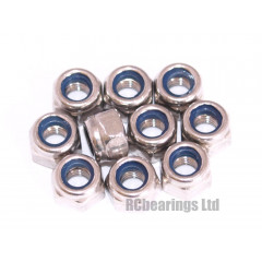 M3 Nyloc Nuts Stainless Steel x10