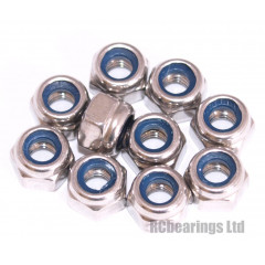 M4 Nyloc Nuts Stainless Steel x10