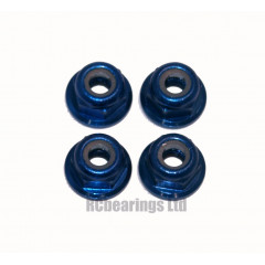 M3 Flanged Anodised Aluminum Wheel Nuts in Royal Blue (Pack of 4)