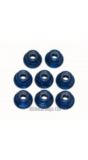 M3 Flanged Anodised Aluminum Wheel Nuts in Royal Blue (Pack of 8)