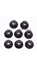 M4 Flanged Anodised Aluminum Wheel Nuts in Black (Pack of 8)