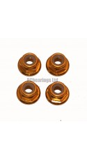 M4 Flanged Anodised Aluminum Wheel Nuts in Gold (Pack of 4)