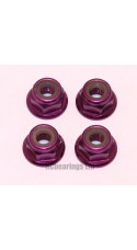 M4 Flanged Anodised Aluminum Wheel Nuts in Purple (Pack of 4)