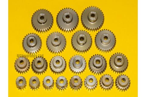 Pinion Gears MOD 0.6 13T to 33T Hard Aluminium 7075 3.175 (1/8th) Bore