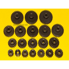 Pinion Gears MOD 1.0 11T to 30T Hardened Steel 5mm Bore