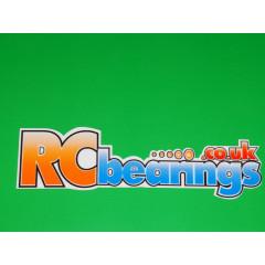 RCbearings.co.uk Sticker Large 24x100mm