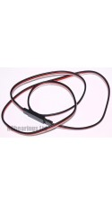 JR Futaba Extension Black Red White 600mm 22awg