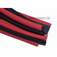 Heat Shrink Various Sizes Pack Red and Black 1 Metre 4mm to 8mm RC Heatshrink