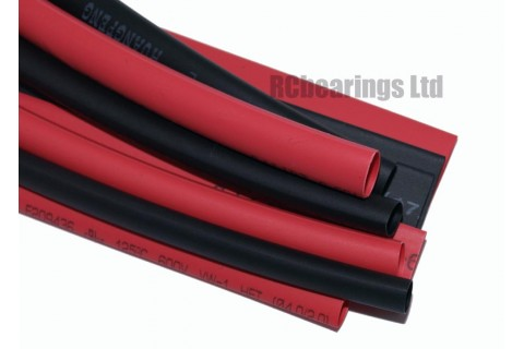 Heat Shrink Various Sizes Pack Red and Black 1 Metre 4mm to 8mm RC Heatshrink