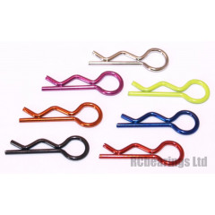 Bodyshell R Clips 22.8mm Perfect for 1/14th RC Cars x10 Body Shell clamps