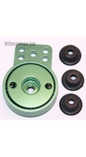 Aluminum Heavy Duty Servo Saver with 3 Adapters (Green)