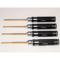 RCA Hex Driver Set x4 Sizes 1.5mm 2mm 2.5mm 3.0mm