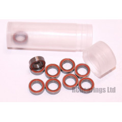 RCB 5x8x2.5 mm MR85rs Red Seal ABEC 5 Bearings
