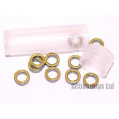RCB 5x8x2.5 mm MR85rs Yellow Seal ABEC 5 Bearings