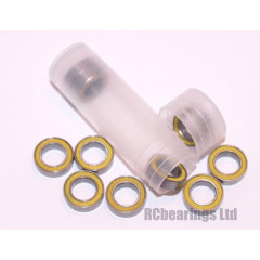 RCB 6x10x3 mm MR106rs Yellow Seal ABEC 5 Bearings