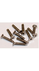 M2.5x12 Socket Countersunk Stainless Steel Screws x10