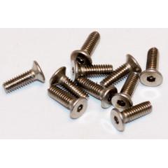 M2.5x8 Socket Countersunk Stainless Steel Screws x10