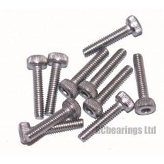 M2x10 Socket Cap Stainless Steel Screws x10