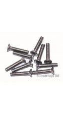 M2x10 Socket Countersunk Stainless Steel Screws x10