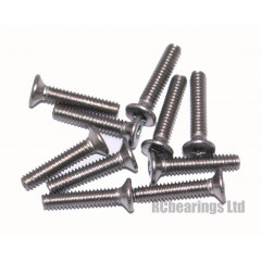 M2x10 Socket Countersunk Stainless Steel Screws x10