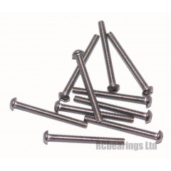 M2x20 Socket Button Stainless Steel Screws x10