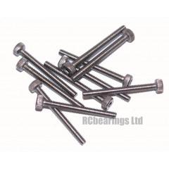 M2x20 Socket Cap Stainless Steel Screws x10