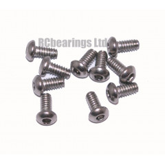 M2x4 Socket Button Stainless Steel Screws x10