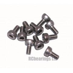 M2x4 Socket Cap Stainless Steel Screws x10