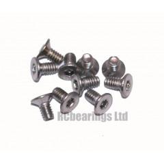 M2x4 Socket Countersunk Stainless Steel Screws x10