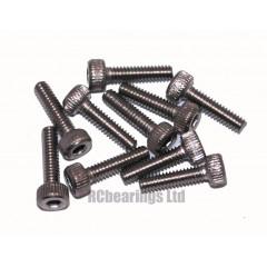 M2x8 Socket Cap Stainless Steel Screws x10