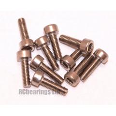M3x10 Socket Cap Stainless Steel Screws x10