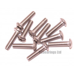 M3x12 Socket Button Stainless Steel Screws x10