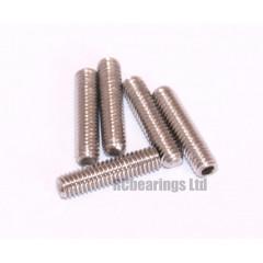 M3x12 Grub Screws Stainless Steel x5