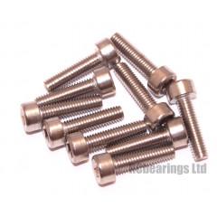 M3x12 Socket Cap Stainless Steel Screws x10