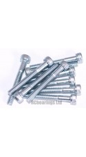 M3x25 Socket Cap Zinc Plated Steel Screws x10