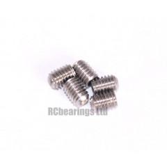 M3x4 Grub Screws Stainless Steel x5