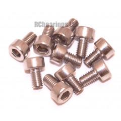 M3x5 Socket Cap Stainless Steel Screws x10