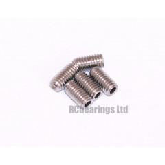 M3x6 Grub Screws Stainless Steel x5