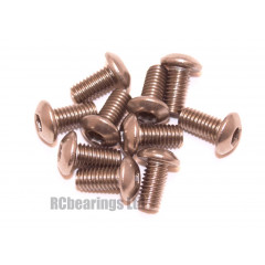 M3x6 Socket Button Stainless Steel Screws x10