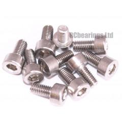 M3x6 Socket Cap Stainless Steel Screws x10