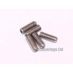 M3x8 Grub Screws Stainless Steel x5