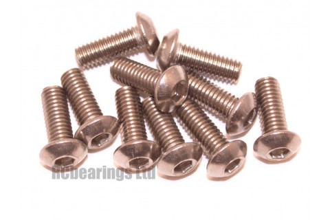 M3x8 Socket Button Stainless Steel Screws x10