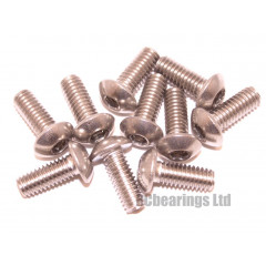 M4x10 Socket Button Stainless Steel Screws x10