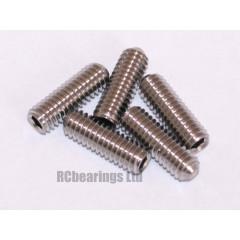 M4x12 Grub Screws Stainless Steel x5