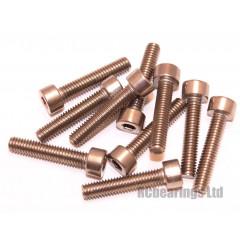 M4x20 Socket Cap Stainless Steel Screws x10