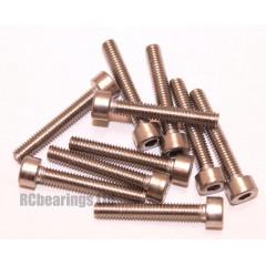 M4x25 Socket Cap Stainless Steel Screws x10