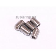 M4x6 Grub Screws Stainless Steel x5