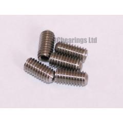 M4x8 Grub Screws Stainless Steel x5